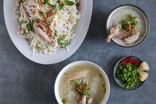 Ga Xe Phay Mien Ga Chao Ga Vietnamese Chicken Salad Chicken Glass Noodle Soup Chicken Congee Meat Loves Salt Vietnamese Chicken Congee Recipe Chicken Cabbage Vietnamese Chicken Salad