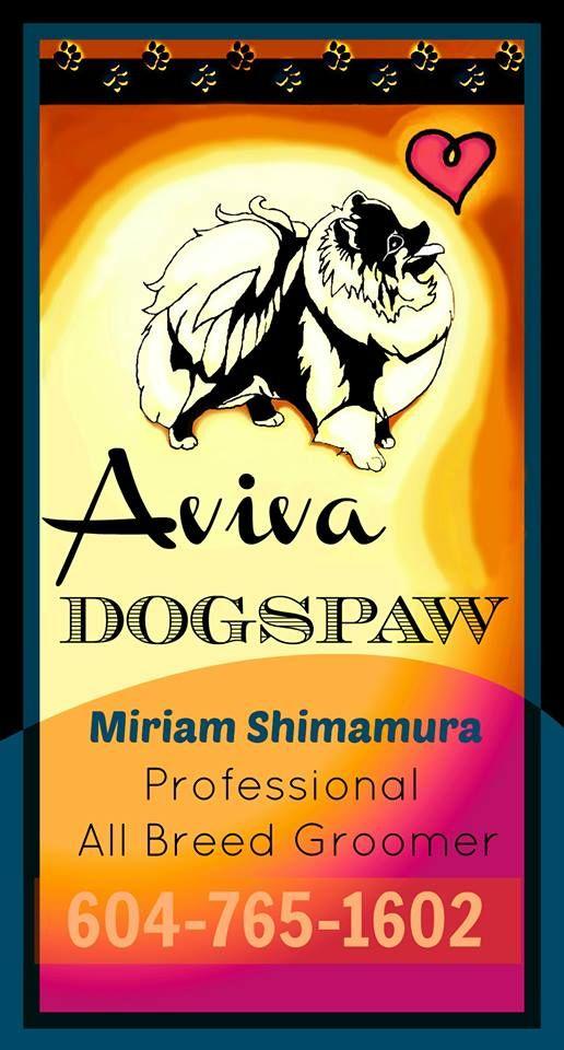 Dog groomers, Coquitlam ~Aviva Dogspaw. Business card :) | Dog ...