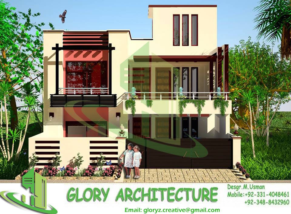 Modern 3d House Elevation Architectural Drawings Structural Drawings Electrical Drawings Plumbing Drawings House Elevation Home Map Design Modern House