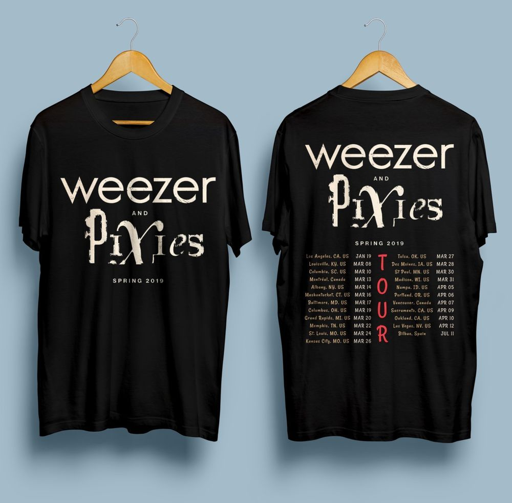 123e83a82 New Weezer & Pixies Spring 2019 Tour Gildan Black T Shirt S - 2XL #fashion # clothing #shoes #accessories #mensclothing #shirts (ebay link)