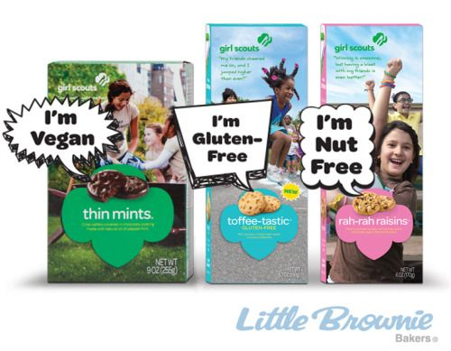 Let the cookies do the talking- cookie box speech bubbles answer nutrition and allergen questions leaving more time for girls to talk about their goals.\