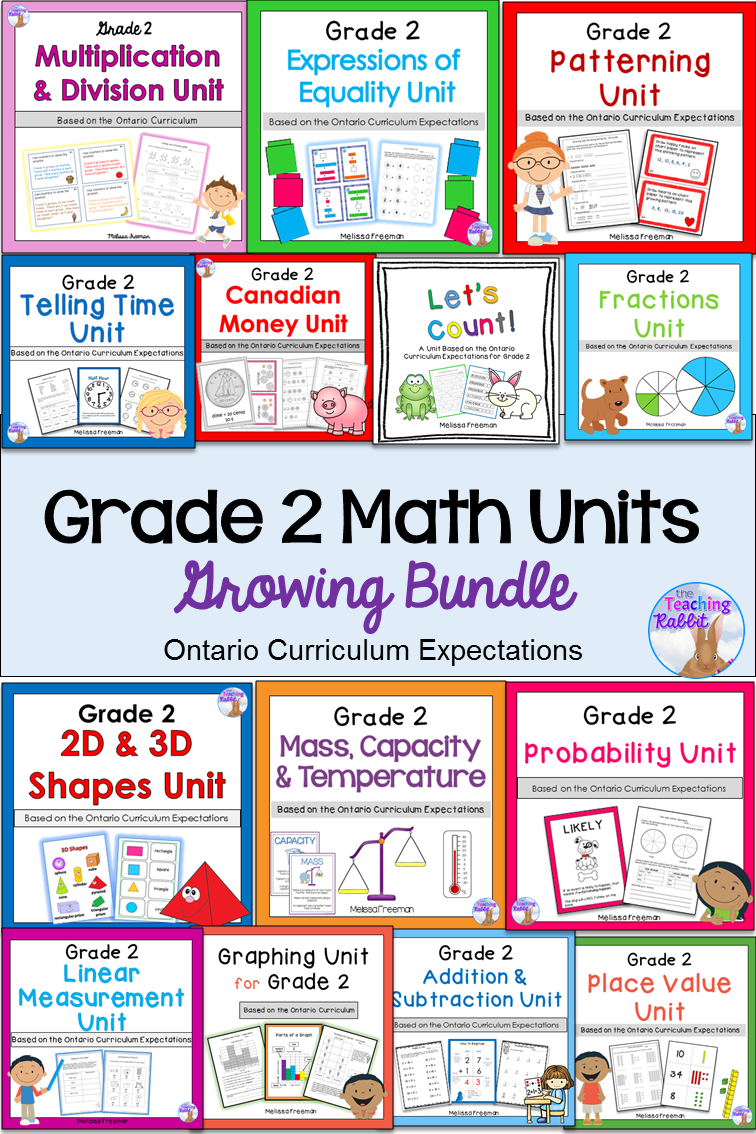 This Grade 2 Math bundle is aligned with the Ontario Curriculum and  contains lesson ideas [ 1134 x 756 Pixel ]