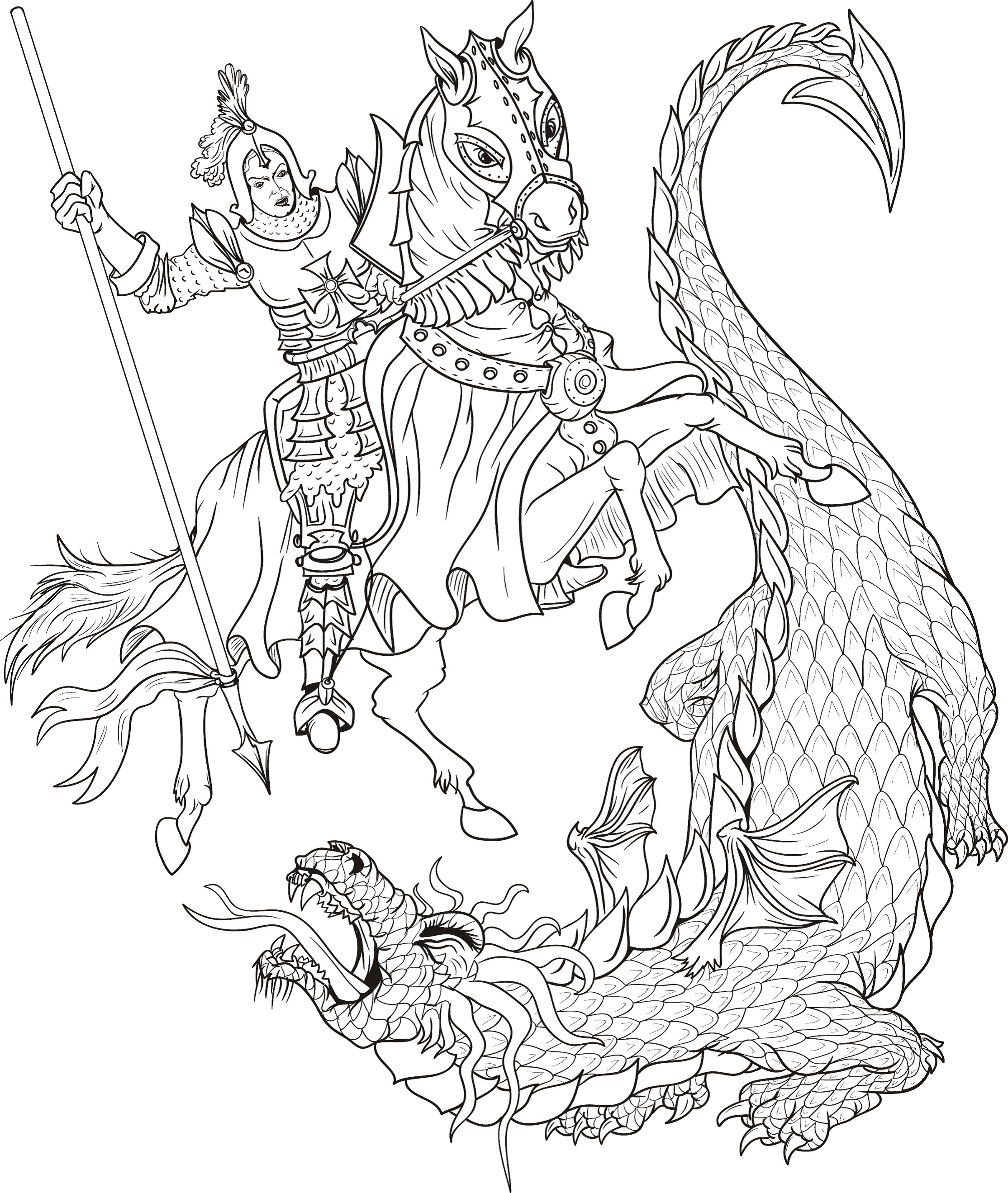 evil dragon Coloring Pages - Bing images | Adult coloring | Pinterest