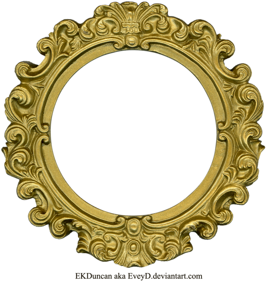 Vintage Gold Frame Round By Eveyd On Deviantart Antique Picture Frames Gold Frame Vintage Picture Frames