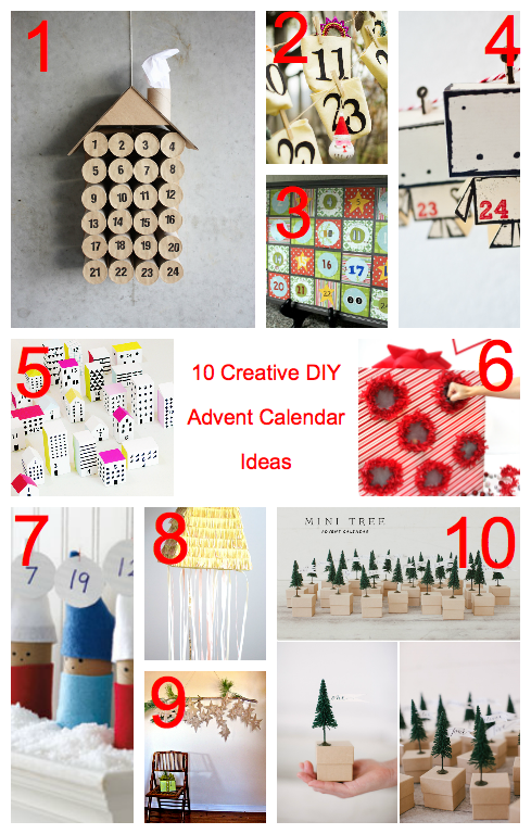 Calendar Ideas Diy : Awesome diy advent calendar ideas days of to