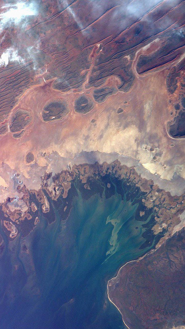 EARTHVIEW SATELLITE MAP SEA LAND ART ILLUSTRATION