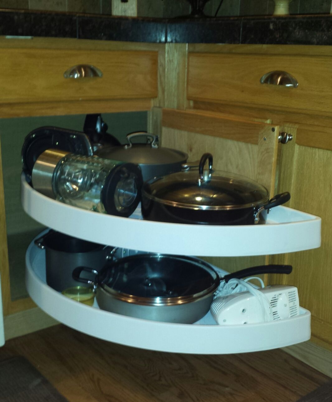 Great for storing pots & pans in a blind corner | Solution for Blind ...
