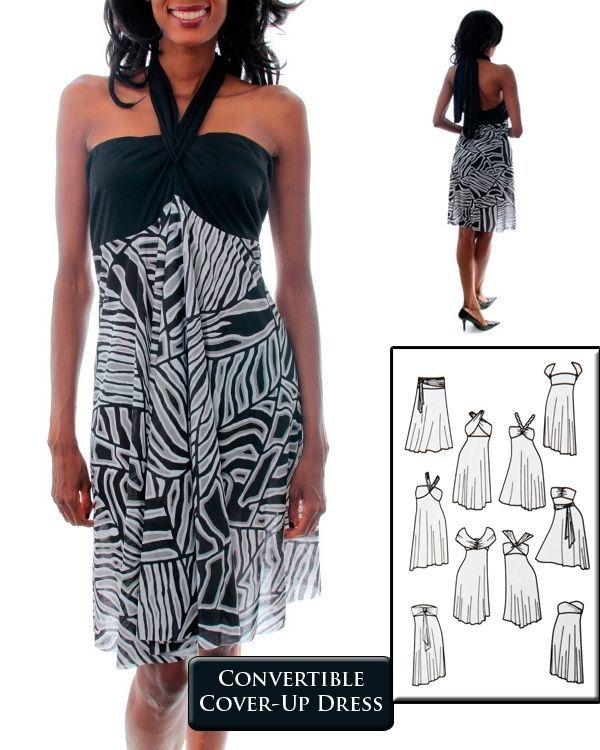 Plus Size Black or Purple Adjustable Infinity Dress Sz 1X 2X 3X