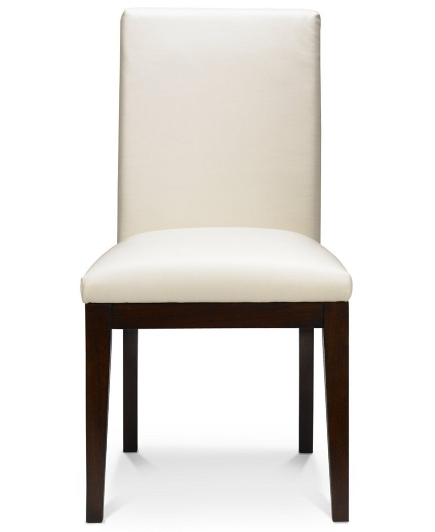 Bari Dining Chair White Leather  Dining Room Chairs & Benches Alluring Ivory Leather Dining Room Chairs Inspiration Design