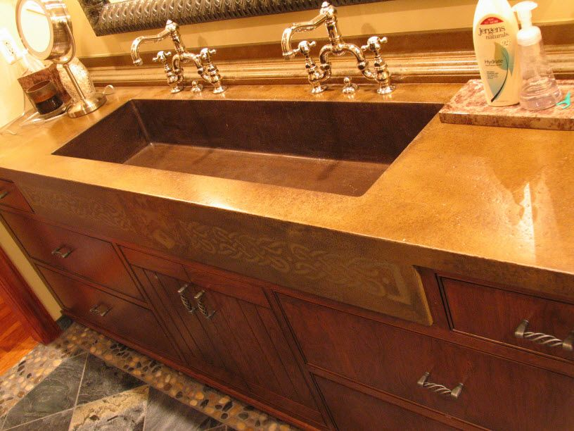 Master Bathroom Trough Sink Traditional    http://www.infinicrete.com/product_info.php?cPath=30_63_id=214=