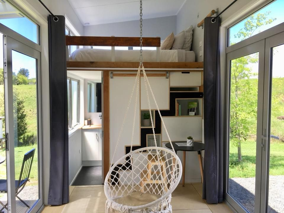 Tiny House Air Bnb Nz Tiny House Loft Tiny House Living