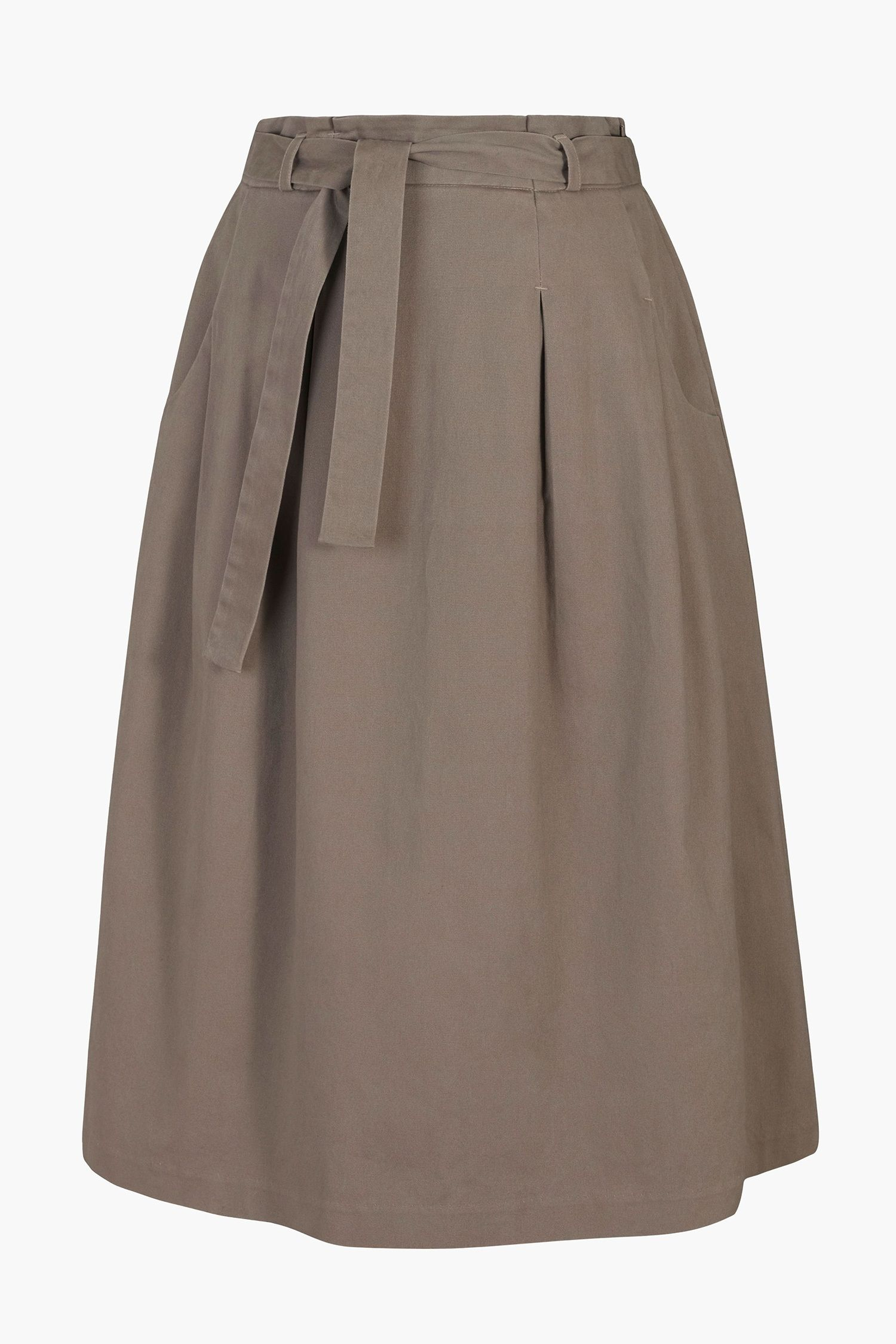 19a4279de Midi Seasalt skirt, in soft cotton chino. With a paperbag waist and ...