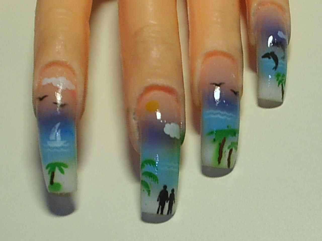 Airbrush Nail Designs Pictures