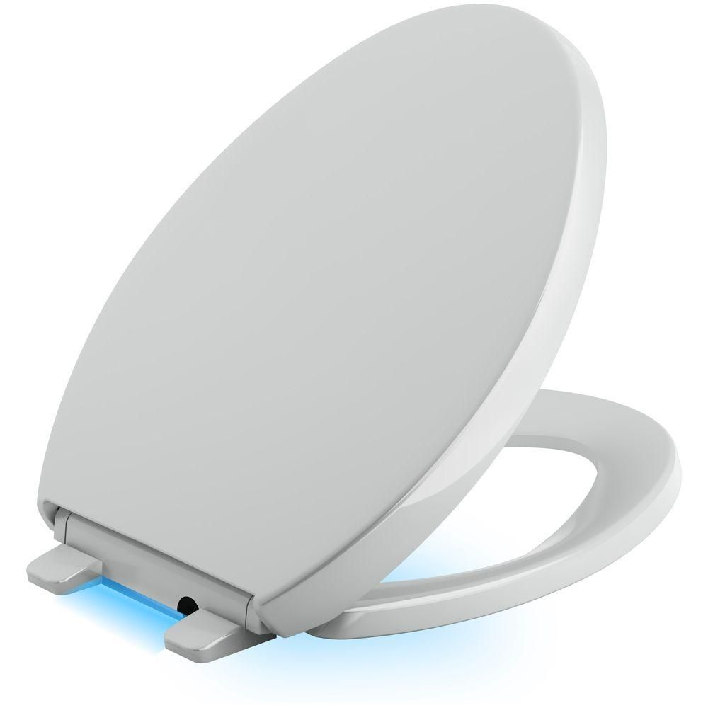 Reveal Led Nightlight Elongated Closed Front Toilet Seat In Ice