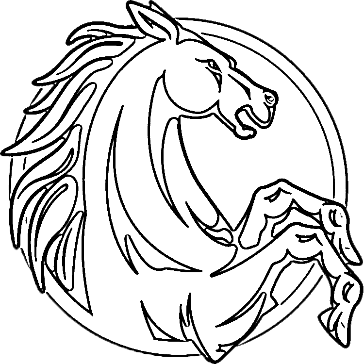 Rearing horse coloring pages rearing horses coloring page pic 19