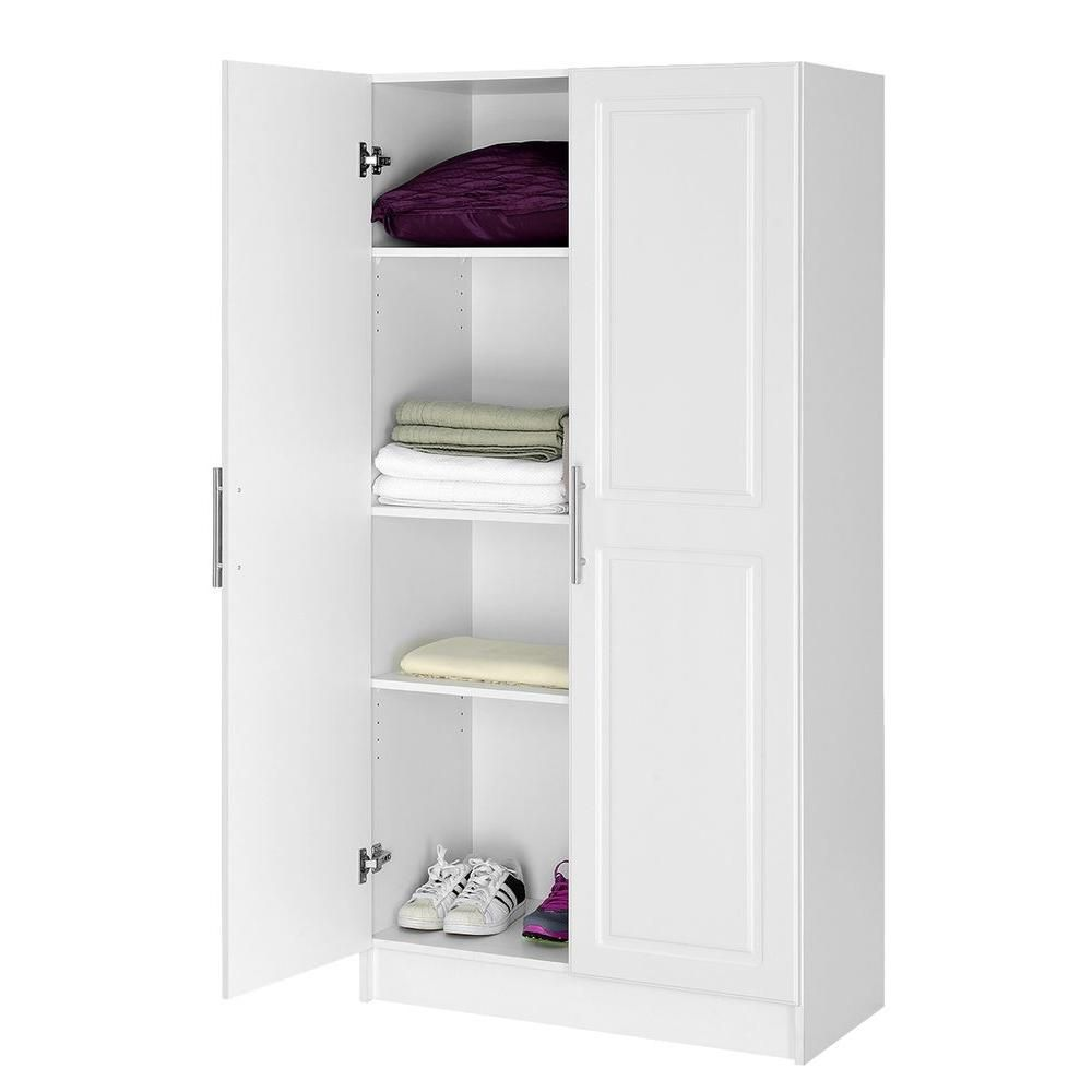 H Mdf Storage Cabinet In White