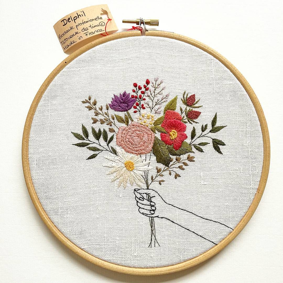 Many different embroidery stitches available on my etsy shop