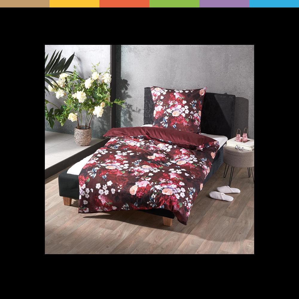Wendebettwäsche in warmem Feinflanell aus der Kollektion Rose von Traumschlaf  - warmes Feinflanell - kuschelig weich - mit Qualitätsreißverschluss - reine Baumwolle - ideal als Winterbettwäsche - Uni