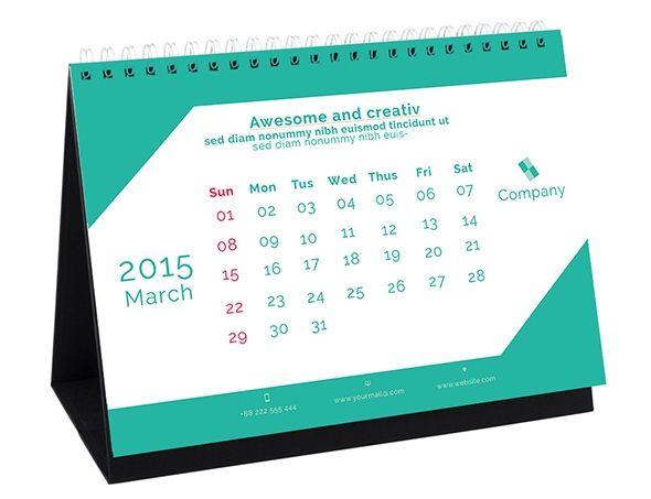 Kalender Meja 2015 - 08 -Desk calender Design