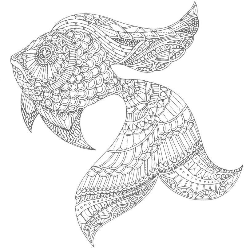 Золотая рыбка - Океан | Раскраски, Рисунки для ...