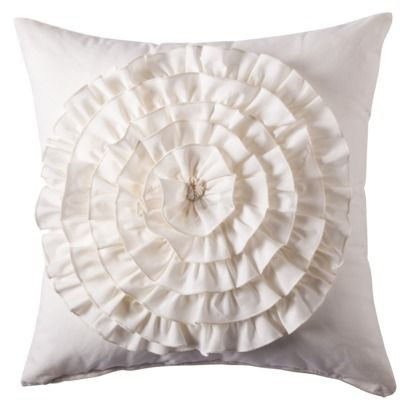 Diy Boho Throw Pillows : Boho Boutique Flower Applique Pillow - Ivory $19.99 or (diy by finding inexpensive white throw ...