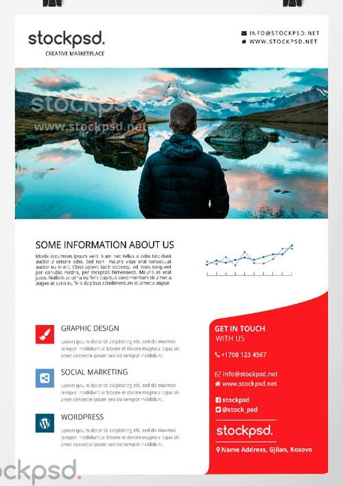 Corporate Business Free PSD Flyer Template - http\/\/freepsdflyer - corporate flyer template