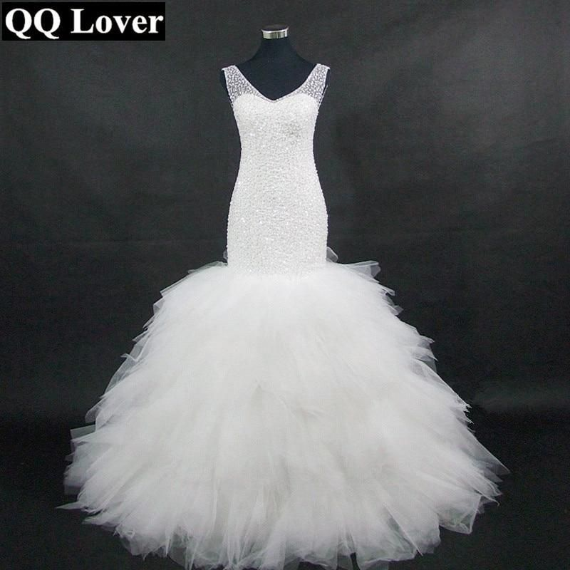 QQ Lover 2019 Luxury African Mermaid Wedding Dresses