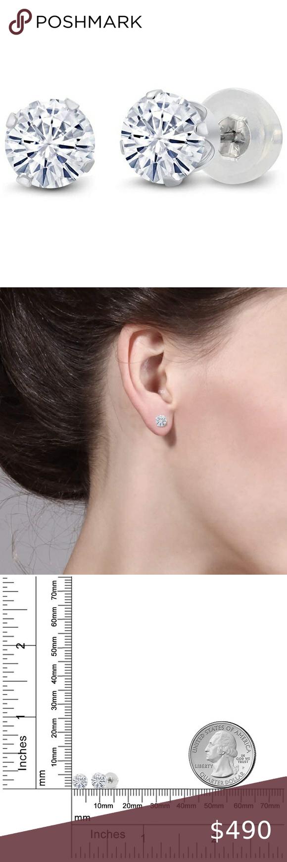 10k One Carat Diamond Earrings Fine Jewelry In 2020 Diamond Earrings One Carat Diamond 1 Carat Diamond Earrings