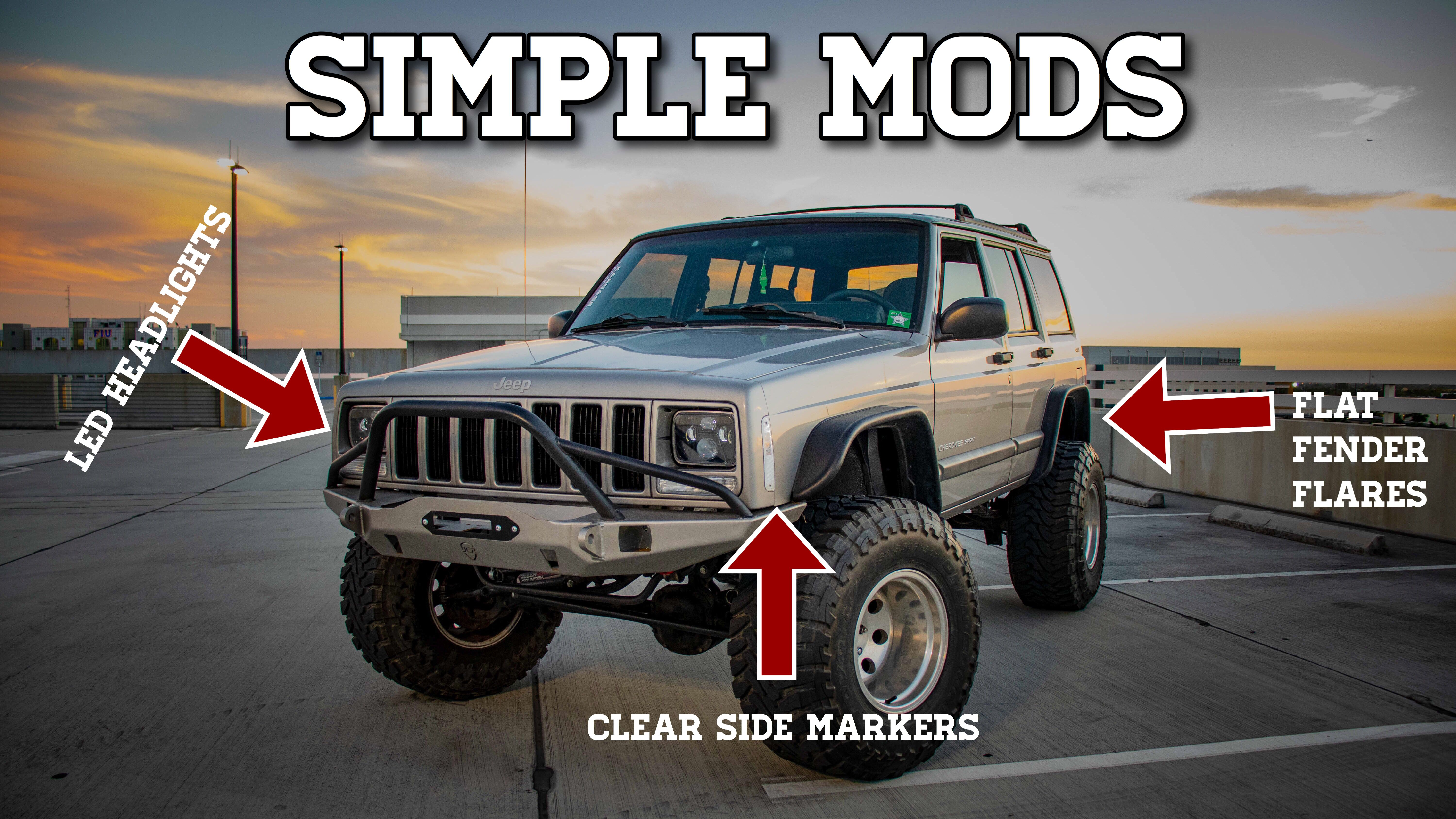 Jeep Cherokee Xj Simple Mods Jeep Jeep Cherokee Xj Jeep Wj