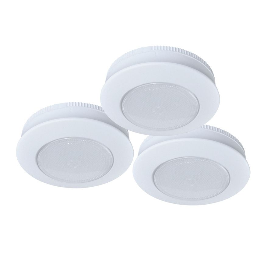 Ecolight 3 Pack 3 In Battery Puck Under Cabinet Lights Lowes Com Cabinet Lighting Puck Lights Led Puck Lights
