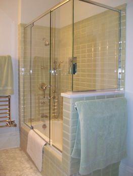 Glass Enclosed Bathtub Bathroom Reno In 2019 Bathtub