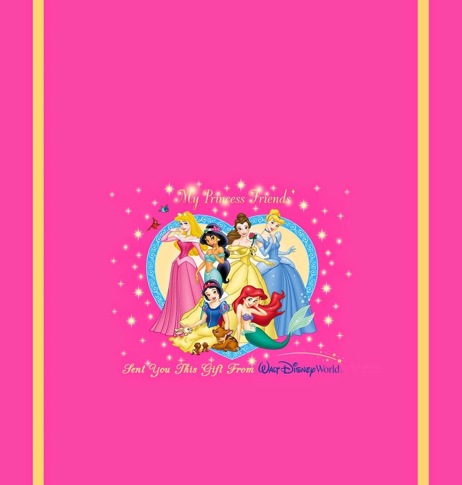 Disney Princess Free Printable Chocolate Wrappers