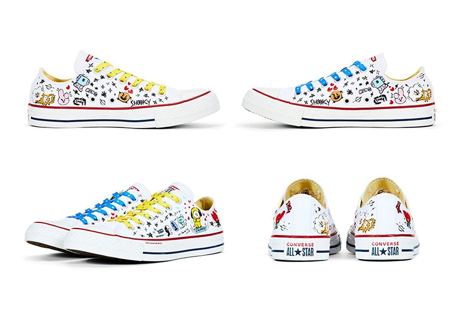 7900e327a84f BT21 x Converse Collarboration Chuck Taylor All Star Low White (Limited  Edition) --
