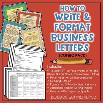 Business Letter Format Practice i 2018 TpT Misc Lessons Pinterest