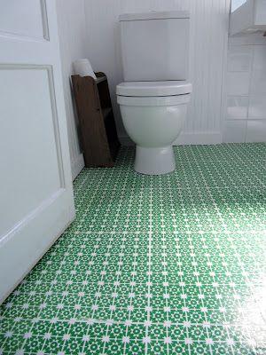 Diy Patterned Linoleum Floors So Cute