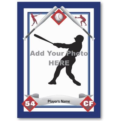 Make Your Own Baseball Card   Baseball cards and Soccer players