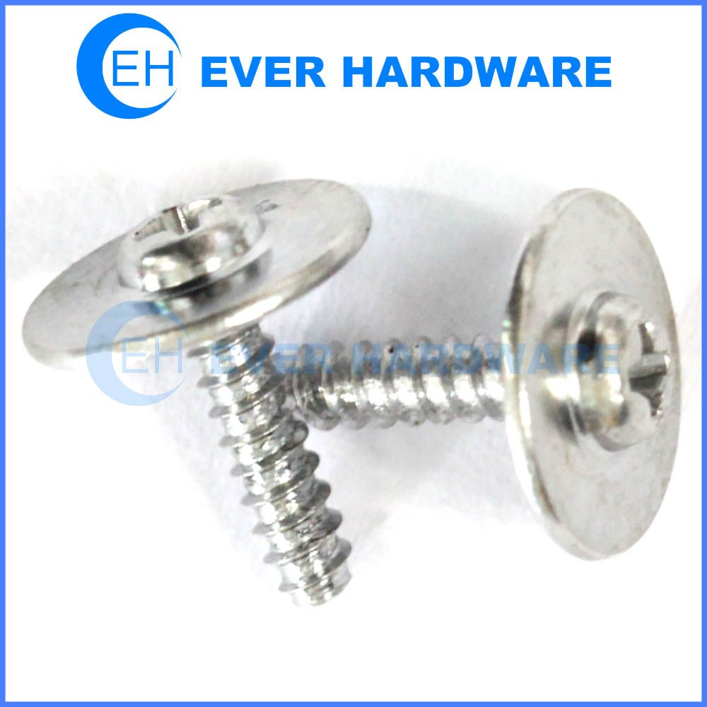 Metal self tapping screws pan phi head with big washer for