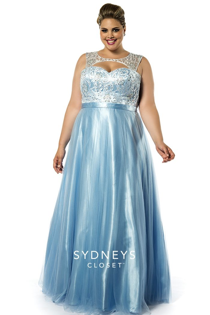 Baby Blue plus size sample dress SZ7146 | Sydney\'s Closet | prom ...