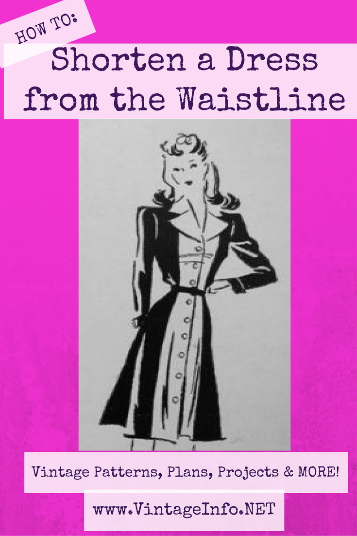 How To Shorten A Dress From The Waistline How To Shorten A Dress Sewing Design Sewing Alterations