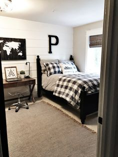 Boys Modern Farmhouse Bedroom Reveal-Teenager Style - Home on Mount Forest