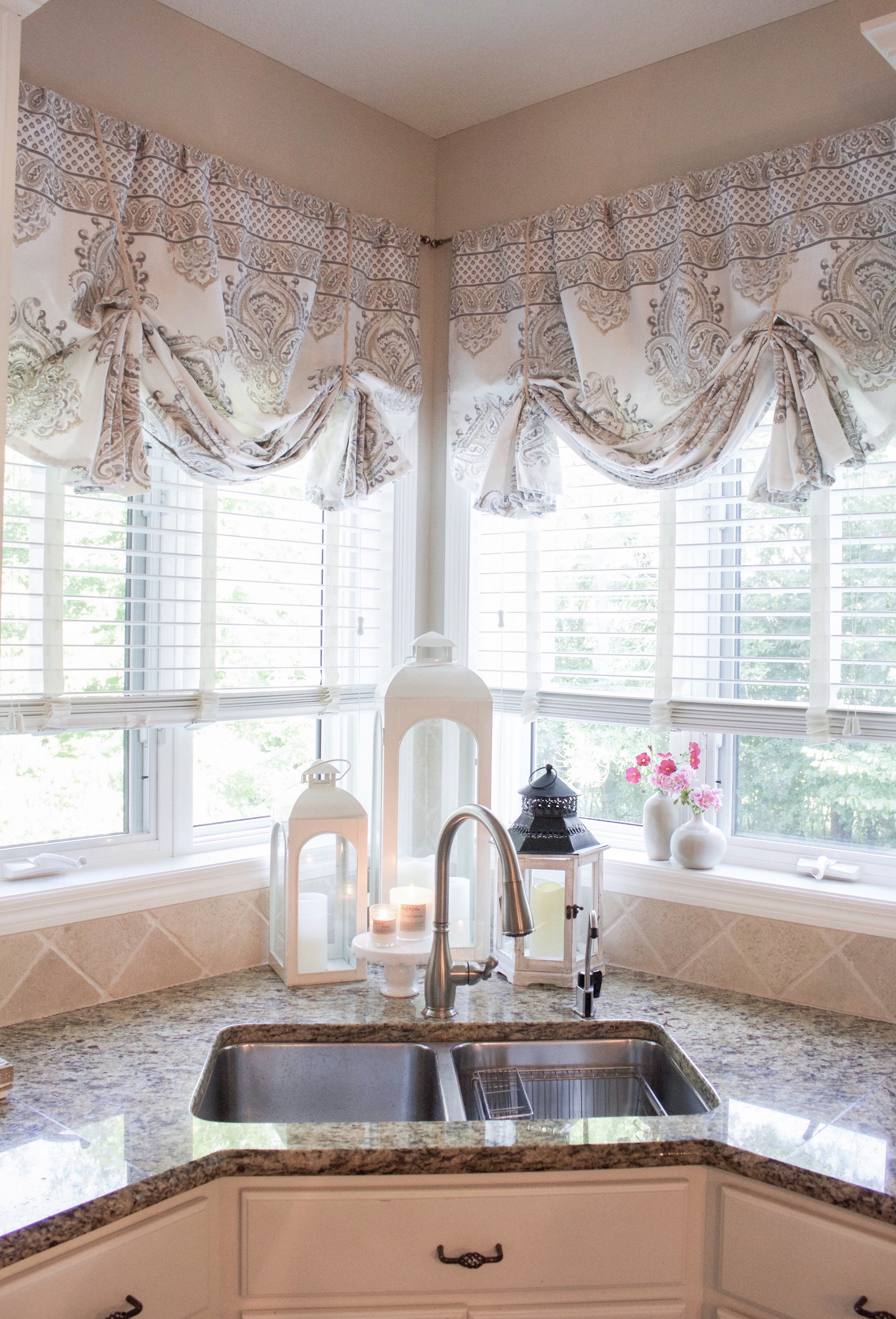 How To Make No Sew Curtain Valances Styled With Lace Kitchen Curtains And Valances Sewing Curtains Valance Farmhouse Kitchen Curtains
