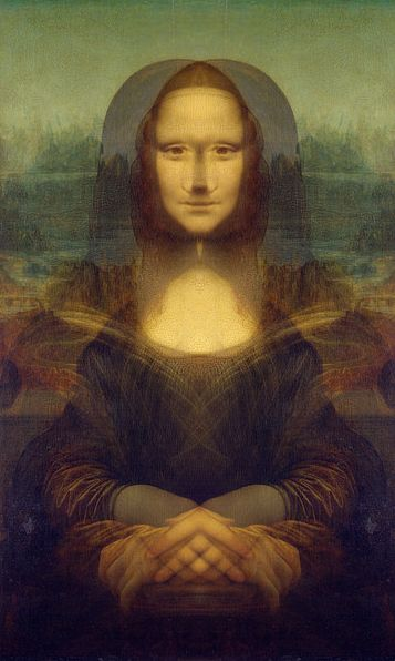 Mona lisa secret picture leonardo da vinci simetry for Can you buy the mona lisa
