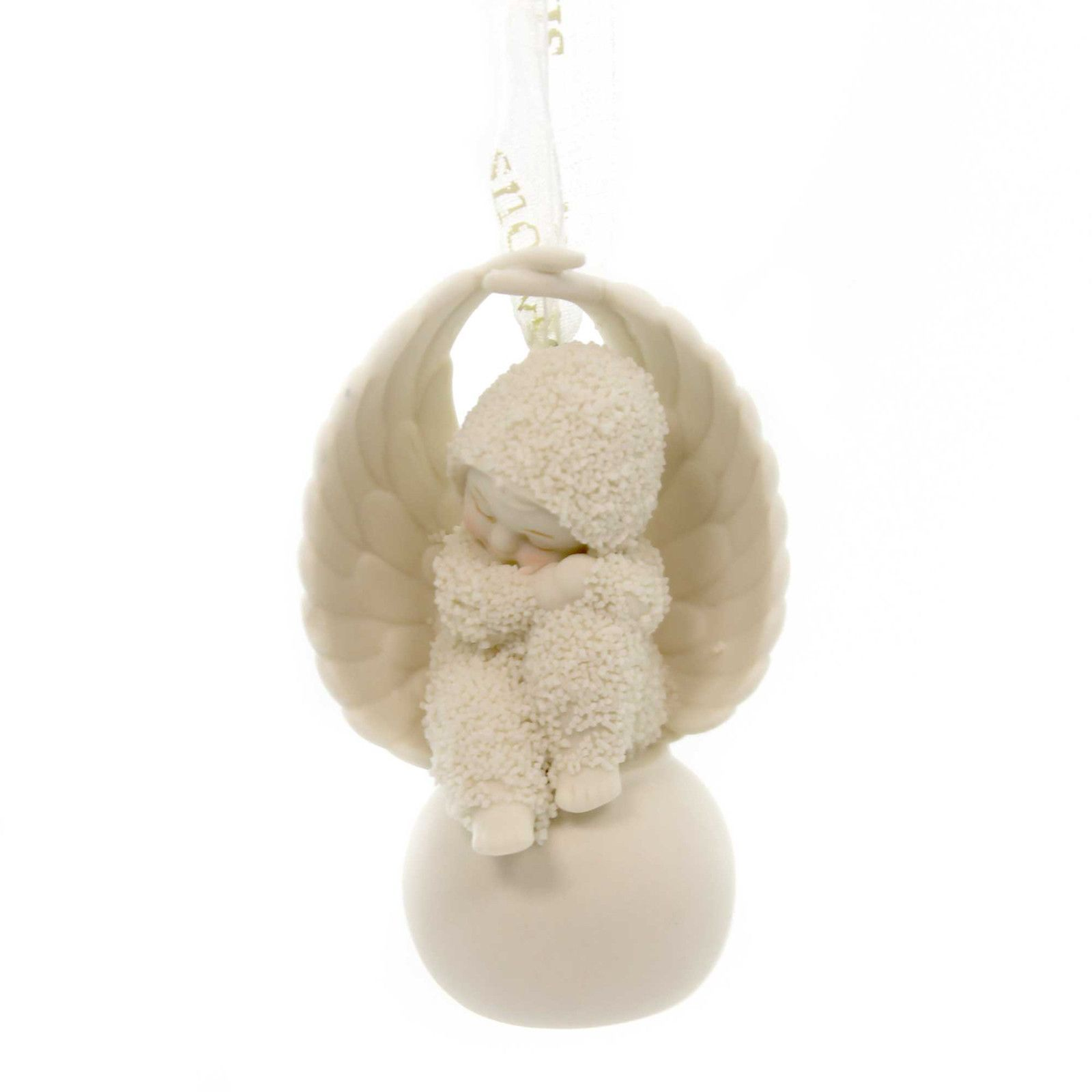 Snowbaby ornaments - Dept 56 Snowbabies An Angel To Look After You Porcelain Ornament Height 2 75 Inches Material
