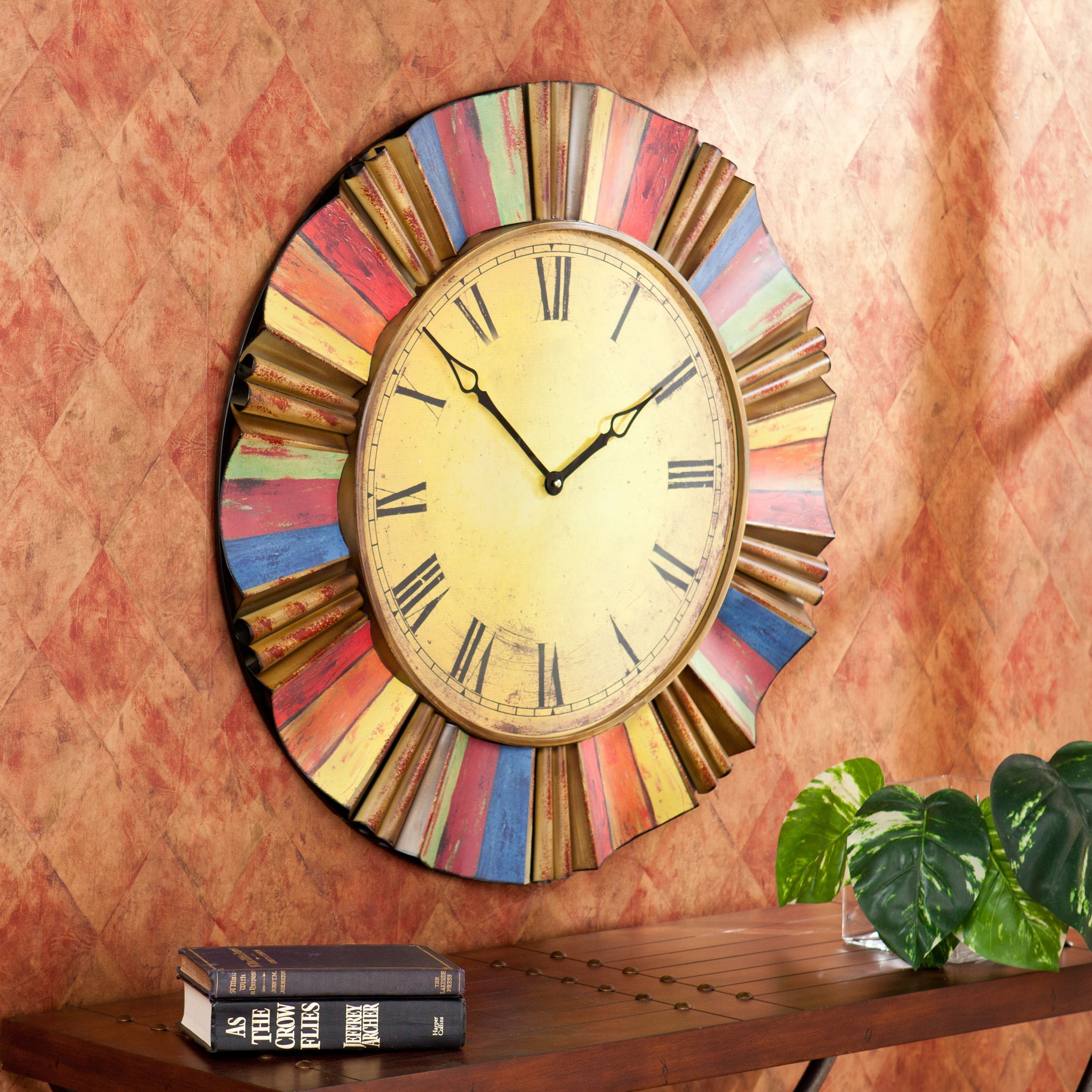 Try adding the Salucci wall clock to your living room or home office ...