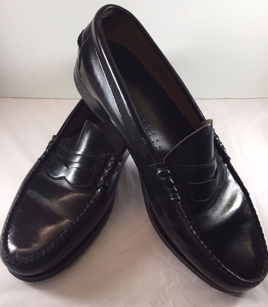 5c31b90b7 Dexter Men s Black Leather Penny Loafers Slip-on Handsewn Dress Shoes 10D  USA  Dexter  LoafersSlipOns