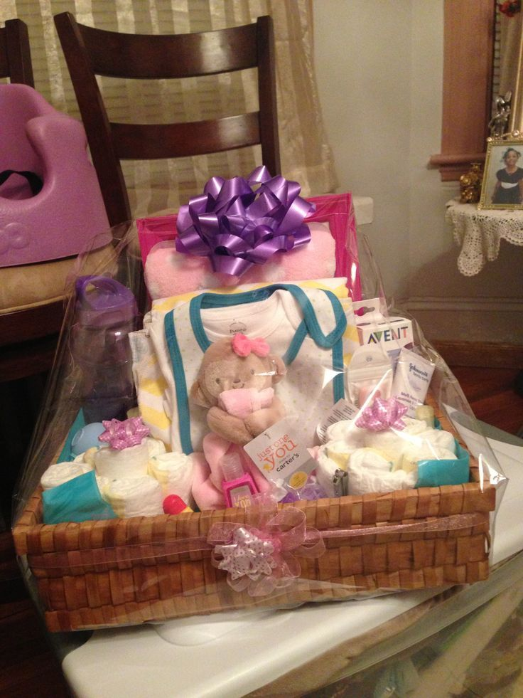 Baby Girl Includes mini diaper cakes, bibs, receiving