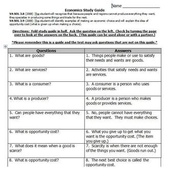 study guide for teaching economics social studies pinterest rh pinterest com Microeconomics Study Guide High School Economics Comics