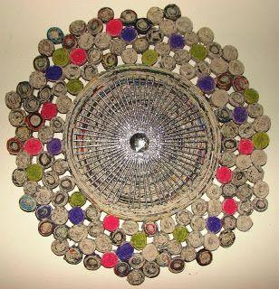 Ref 15 Diamante Arte Reciclada Artesanato Com Jornal Artesanato