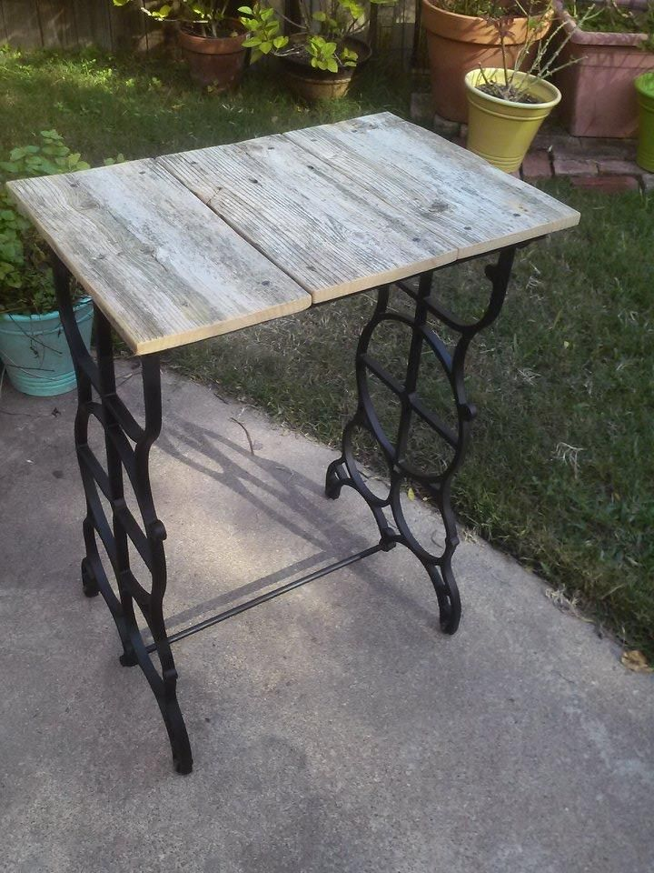rustic wrought iron table