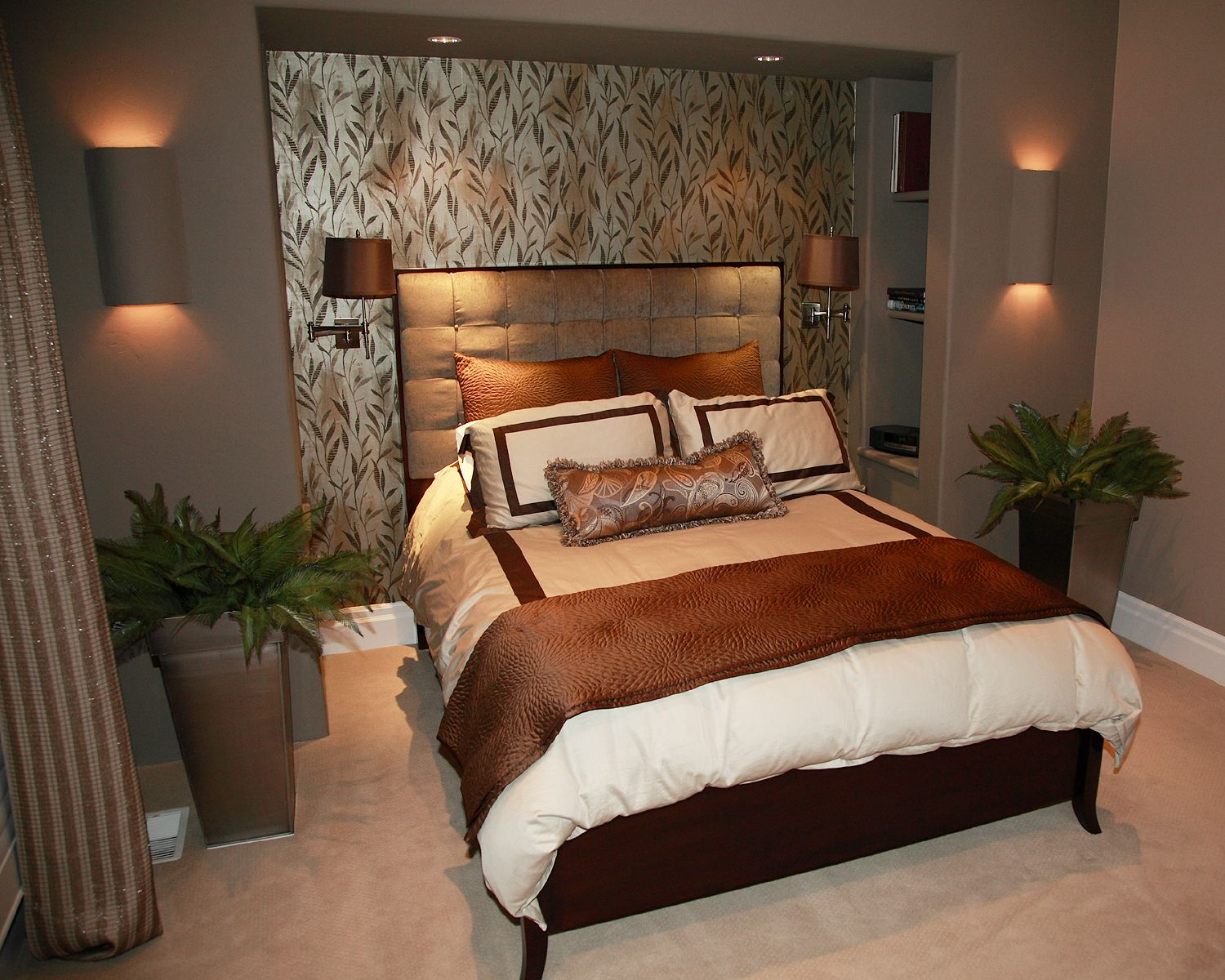 Master bedroom feature wall  feature wall with niche in master bedroom  Bedroom  Pinterest